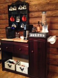 Old changing table repurposed into a coffee bar. Baby ...