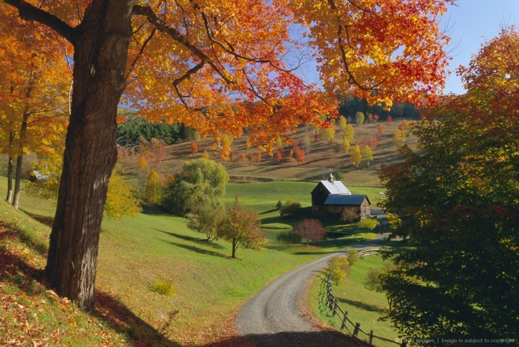 New England Fall Foliage Desktop Wallpaper Autumn Scene Farm Vermont New England Country Scenes