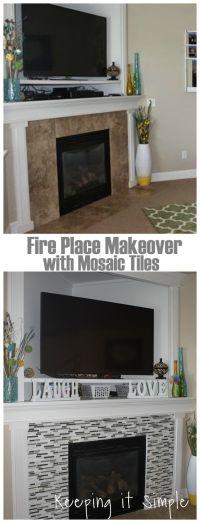 25+ best ideas about Mosaic Tile Fireplace on Pinterest ...