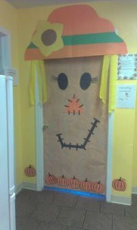 My co-worker did this for our Halloween door decorating ...