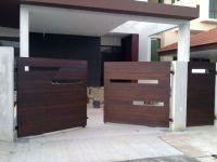 modern wooden gate designs for homes   Fachadas e Portes ...