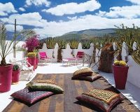 Lisa Bruce Eclectic Moroccan Home - Rooftop garden and ...