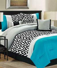 Teal Bentley Comforter Set | Awesome, Chevron comforter ...