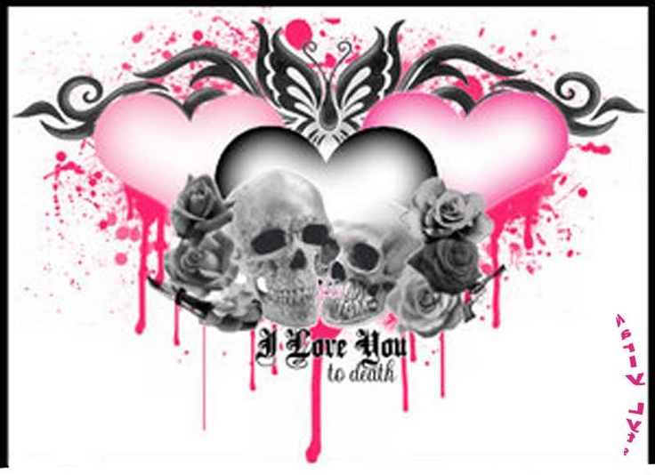 Superb Wallpapers With Quotes For Facebook Skulls Hearts Love Pink White Black Cute Mi