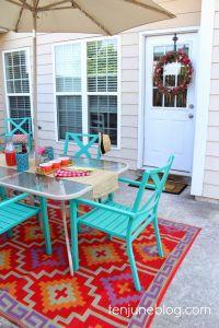 Ten June: Colorful Outdoor Patio Makeover Reveal // Lulu ...