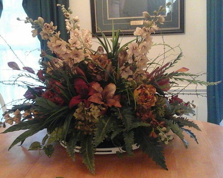 87 best images about Silk Floral Arrangements on Pinterest - silk arrangements for home decor