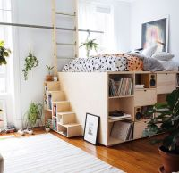25+ best ideas about Elevated Bed on Pinterest | Platform ...