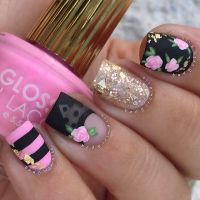 17+ best ideas about Rose Nail Art on Pinterest | Rose ...
