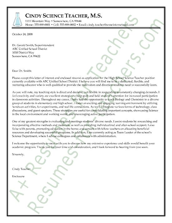 79 best images about teacher and principal cover letter