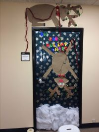 Christmas door decoration | christmas | Pinterest | Doors ...