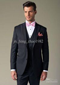 black suit pink bow tie | Mens Tuxedos | Pinterest ...