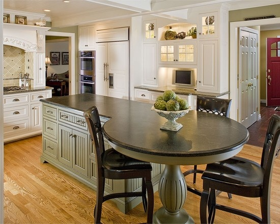 Kitchen Table Islands Cabinets Island With Attached Table Design, | Kitchen Inspiration