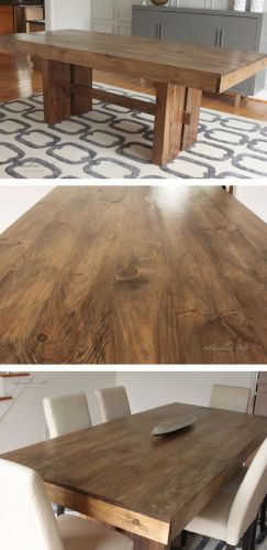 solid wood dining table solid wood kitchen tables West Elm Inspired DIY Solid Wood Dining Table for Studio 36 Interiors