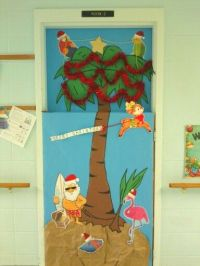 Tropical Christmas | Elementary - Bulletin Boards, Doors ...