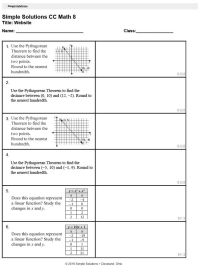 8th Grade Math Common Core Review Worksheet - 7th grade ...