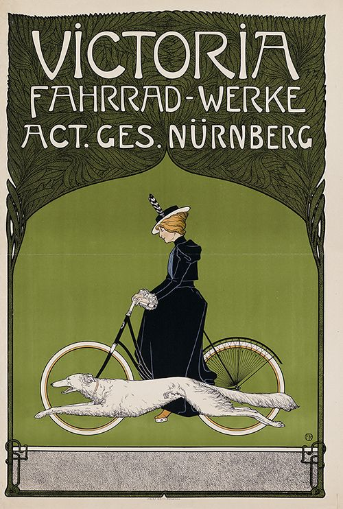 Poster Fahrrad Grofjardanhazy: German Advertising Poster For Victoria