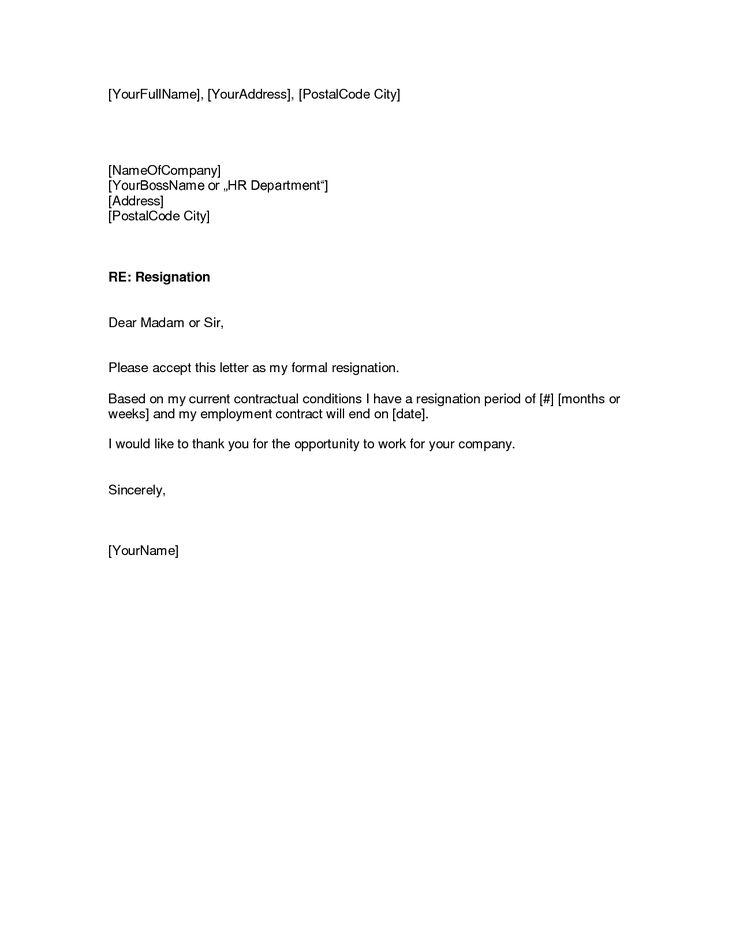 Sample Resignation Letter Australia – Resignation Letter Australia