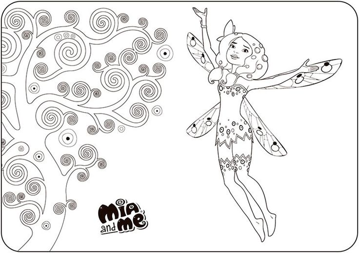 Free Coloring Pages Of Mia And Me Lyria Auto Electrical Wiring Diagram