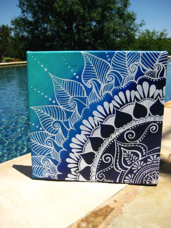Henna on Canvas by KeepAustinDreaming on Etsy, $40.00