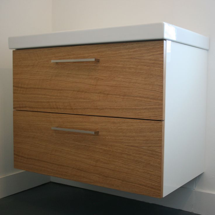 Ikea Custom Cabinets Oak Godmorgon - Custom Fronts For Ikea Cabinets | B A T H