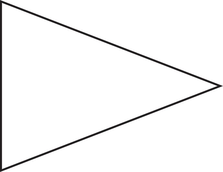 Triangle Flag Shape Clipart