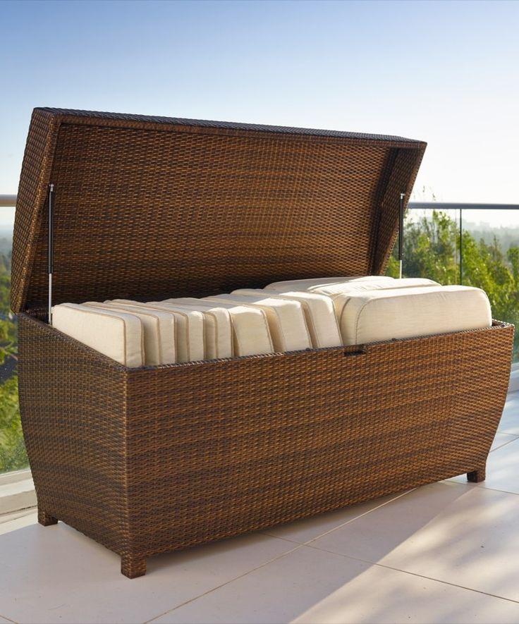 Our All Weather Wicker Storage Chest Is Both Durable And