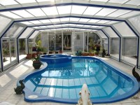 lovely covered pool, prob not a natural pool, but I like ...