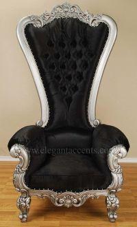 Carved Mahogany Louis XV Beregere Armchair Regal Throne ...