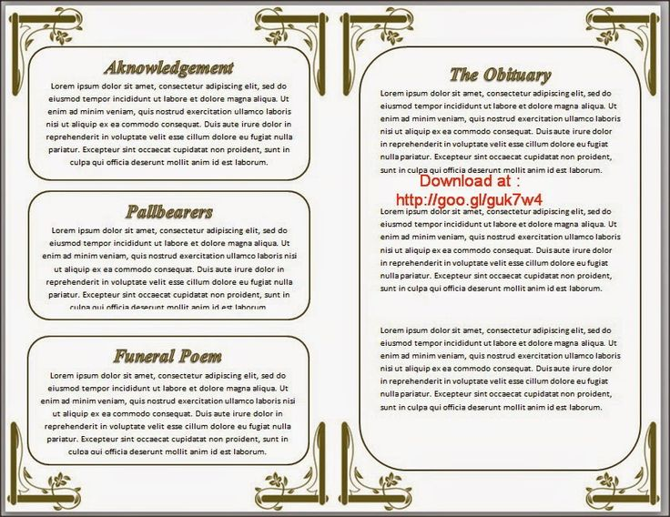 funeral program template for funeral program edit and get pdf - free download funeral program template