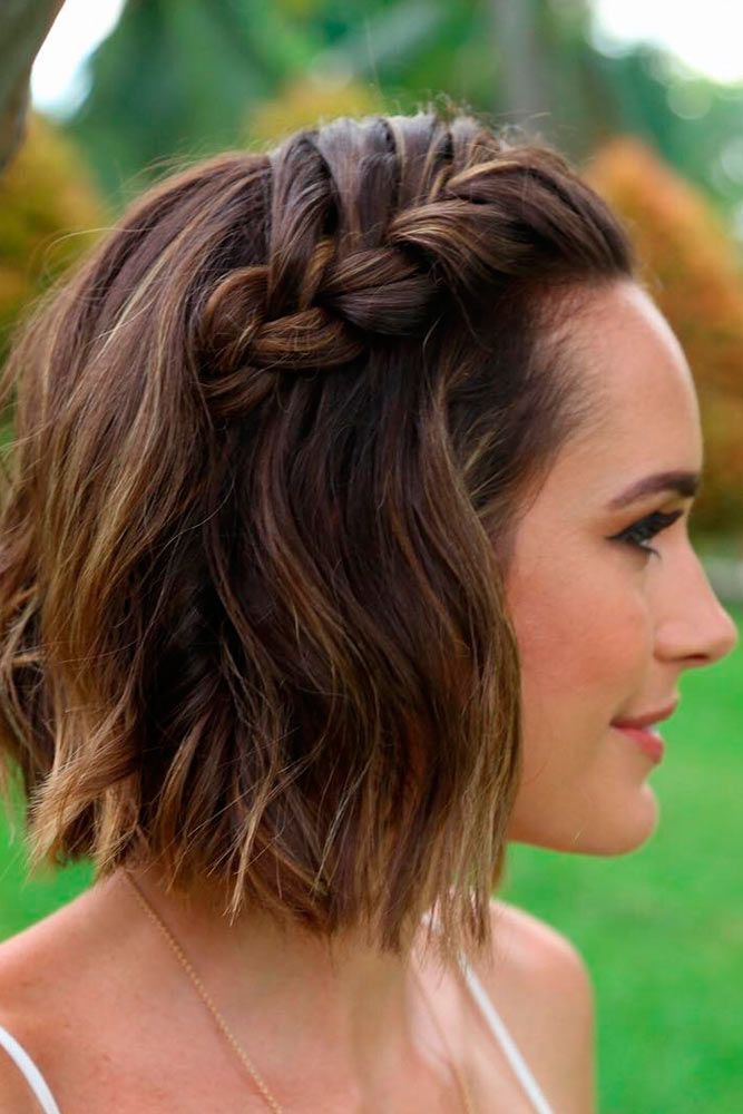 25+ best ideas about Braiding Short Hair on Pinterest
