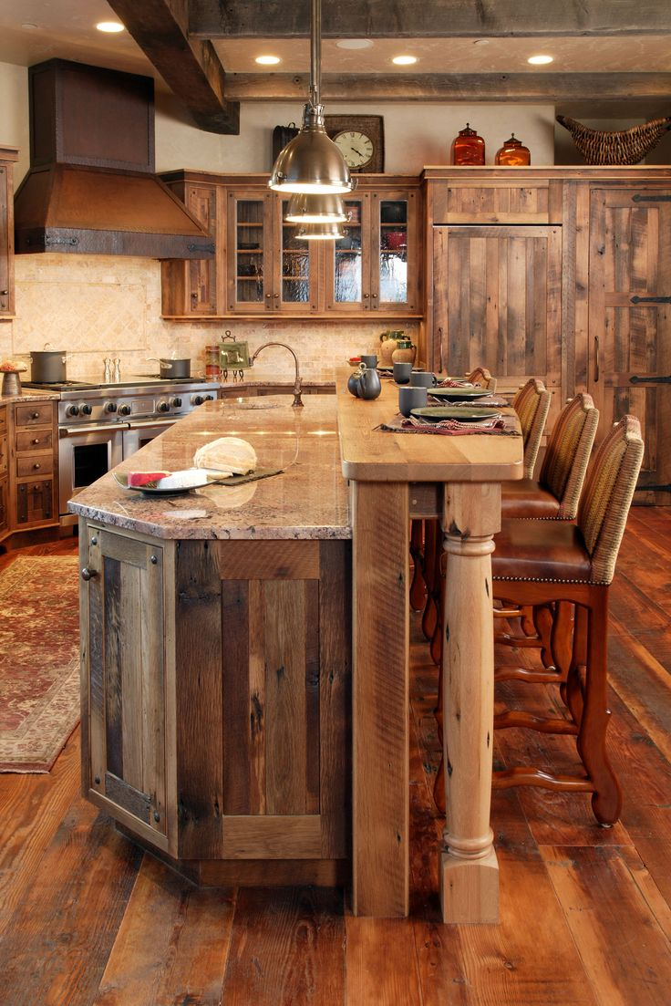 rustic kitchens rustic kitchen cabinets rustic woodworks steamboat springs cabinetry Love the cabinets in the island Rustic Kitchen
