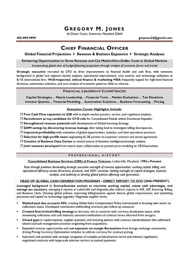 cfo resume chief financial officer resume samples mary find this - entry level police officer resume