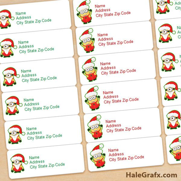 avery 8160 christmas address labels