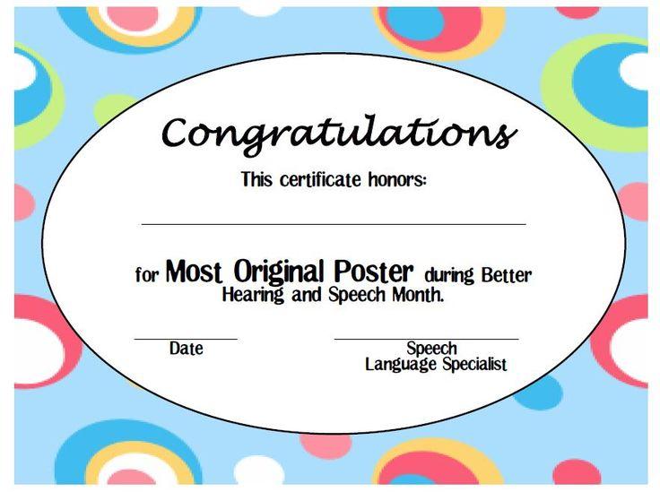 Πάνω από 25 κορυφαίες ιδέες για Printable certificates στο Pinterest - printable congratulations certificate