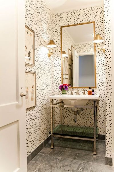 25+ Best Ideas about Small Bathroom Wallpaper on Pinterest | Half bathroom wallpaper, Bathroom ...