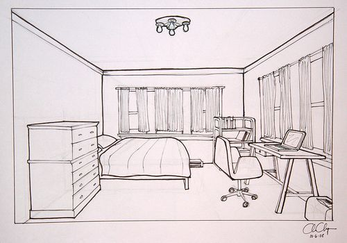 One point perspective perspective pinterest