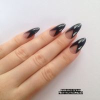 Black French Tip Stiletto Nails | www.pixshark.com ...