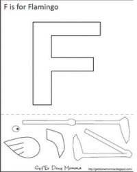 F is for Flamingo   Language- Alphabet crafts and ...