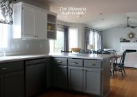 From Oak to Awesome Painted Gray and White Kitchen ...