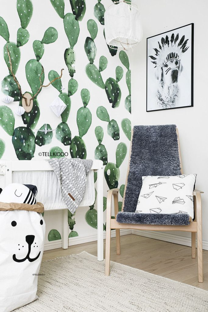 Animal Print Wallpaper For Bedrooms Tellkiddo Nursery Mural By Anewall Children S Haven