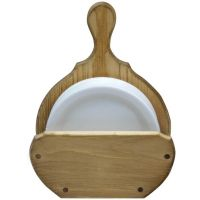 Wood Paper Plate Holders | Paper Plate Caddy Holder ...