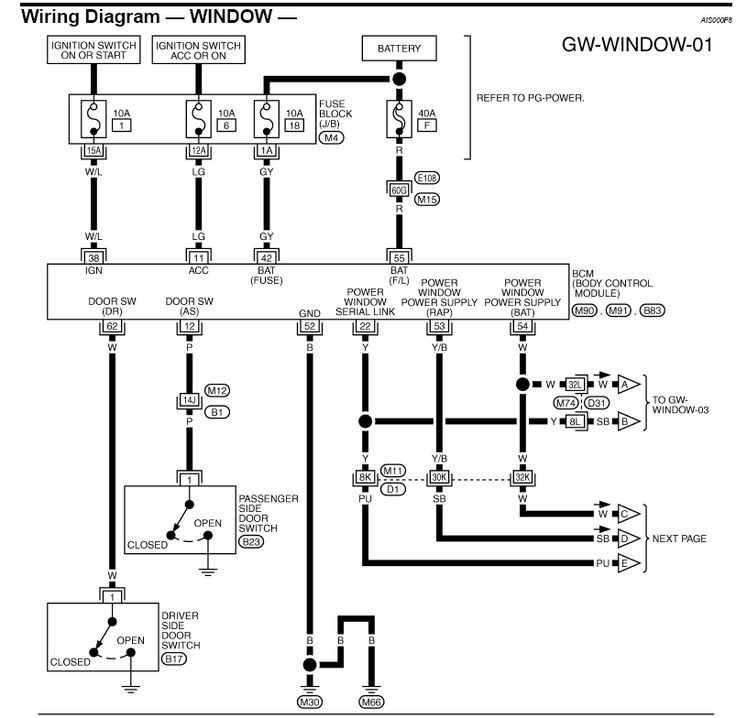 8 pin power window switch wiring diagram