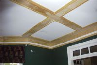 Great coffered ceiling out of simple 1X6 boards and basic ...