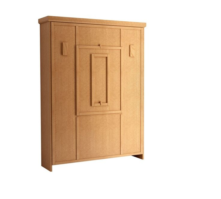 The Elsa Drop Down Table Murphy Bed in Oak