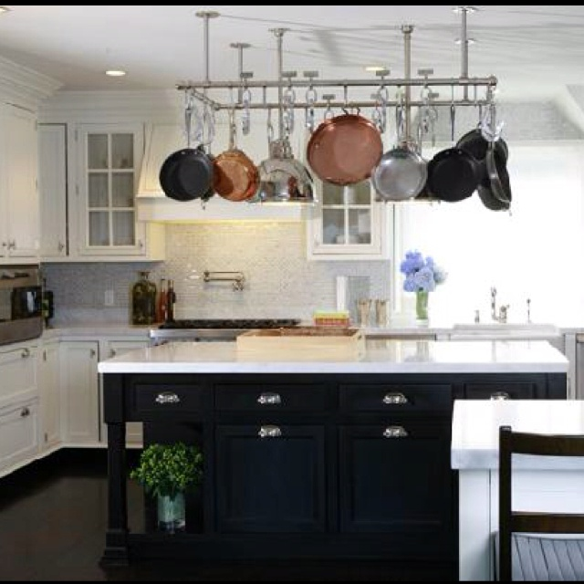 Kitchen Island Hanging Pot Racks Must Have Hanging Pot Rack | Pot Rack Ideas | Pinterest