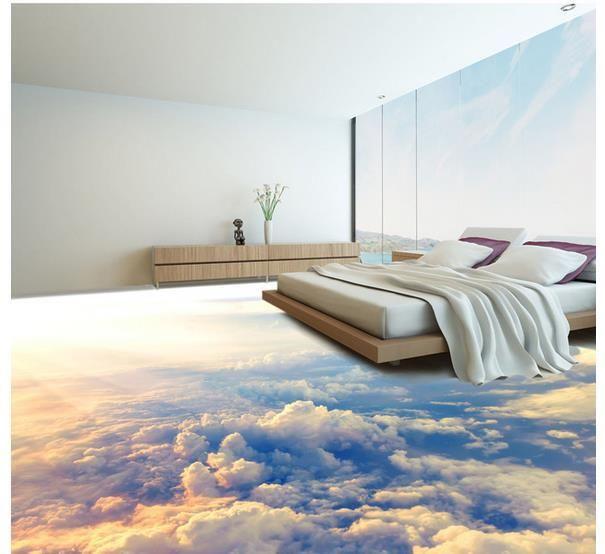 3d Stereoscopic Mural Wallpaper Custom Photo Floor Wallpaper 3d Stereoscopic 3d Clouds