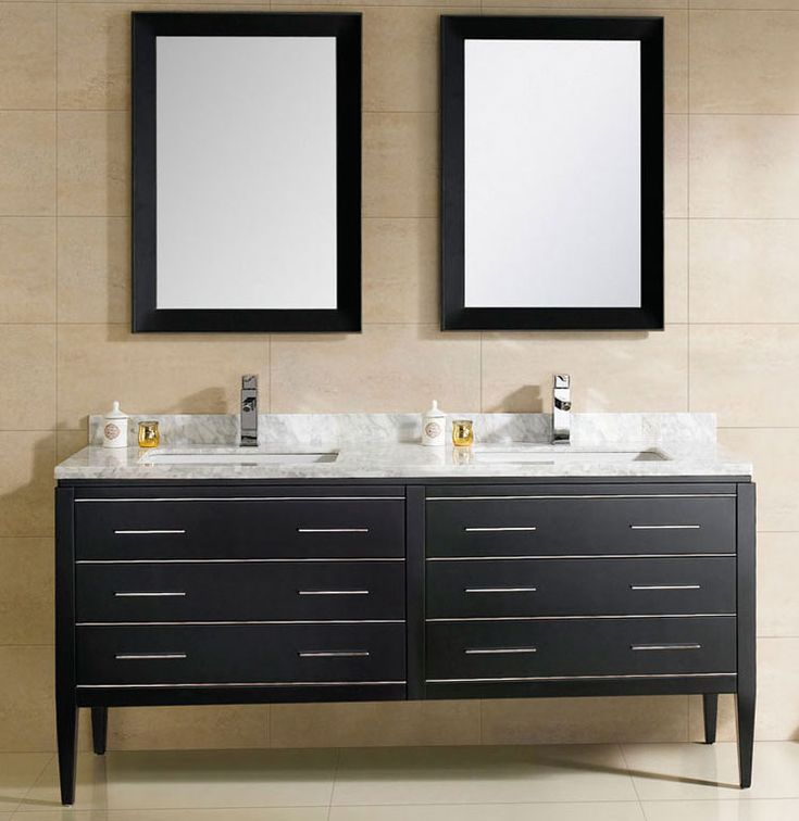 Discount Kitchen Sink Cabinets At Adoos 60 Inch Modern Double Sink Bathroom Vanity Black