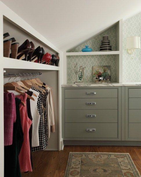 1000+ ideas about Slanted Ceiling Closet on Pinterest