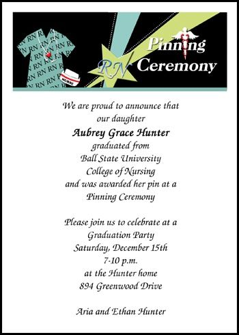 158 Best Images About Nurse Pinning Ceremony Invitations