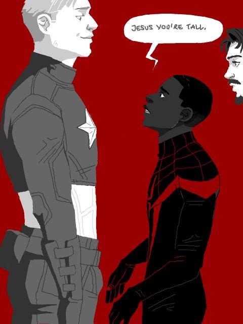 Cute Cap Bucky Iphone Wallpaper Iron Man Captain America Tumblr Spiderman Iron Man Tony